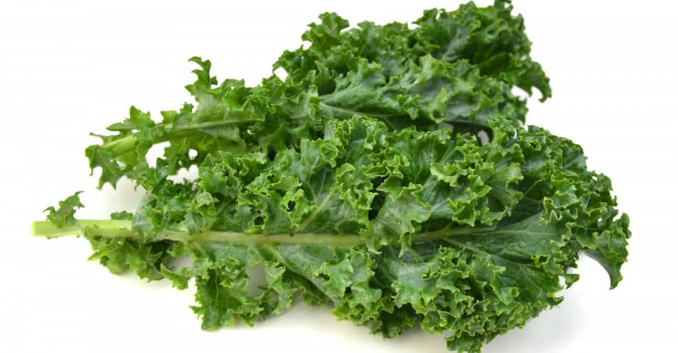 Kale stems healthy